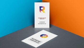 Мокап визитки PSD