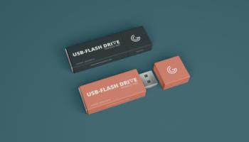 Мокап USB флешки PSD