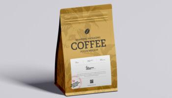 Мокап герметичной упаковки для кофе PSD