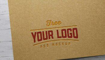 Мокап логотипа PSD