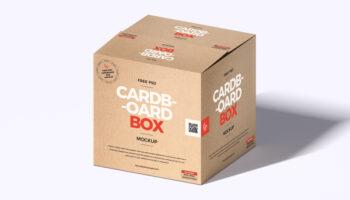 Мокап коробки PSD
