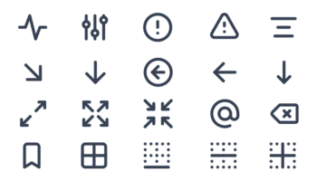 Набор иконок для разработки UI — 300 штук (SVG, PNG)