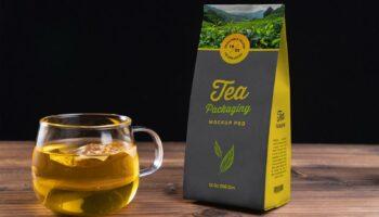 Мокап упаковки для чая PSD