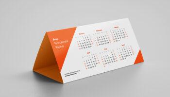 Мокап настольного календаря PSD