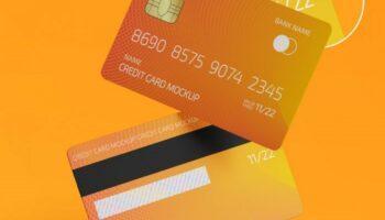 Мокап кредитной карты PSD