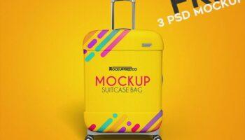 Мокап чемодана PSD