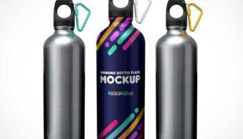 Мокап спортивный бутылки PSD