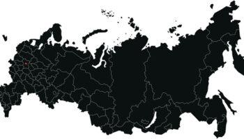 Векторная карта России с регионами EPS