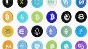 Набор иконок криптовалюта  PNG, Blend