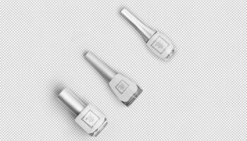 Мокап лак для ногтей PSD