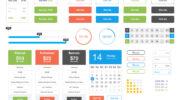 Набор пользовательских интерфейсов free Flat UI Kit