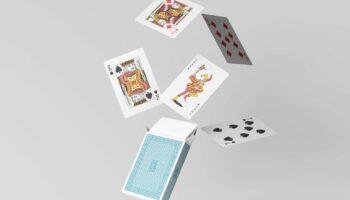 Мокап игральных карт PSD
