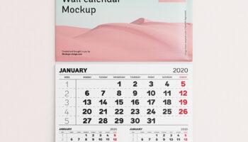 Мокап календарь PSD