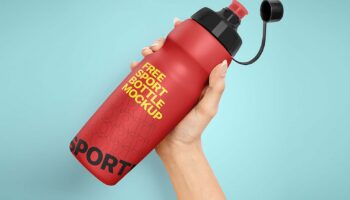 Мокап спортивной бутылки PSD